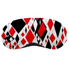 Distorted Diamonds In Black & Red Sleeping Mask