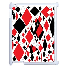 Distorted Diamonds In Black & Red Apple Ipad 2 Case (white)