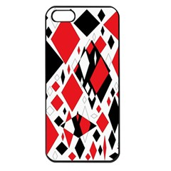 Distorted Diamonds In Black & Red Apple Iphone 5 Seamless Case (black)