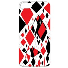 Distorted Diamonds In Black & Red Apple Iphone 5 Classic Hardshell Case