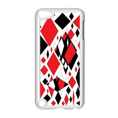 Distorted Diamonds In Black & Red Apple Ipod Touch 5 Case (white)