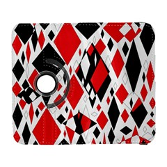 Distorted Diamonds In Black & Red Samsung Galaxy S  III Flip 360 Case