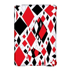 Distorted Diamonds In Black & Red Apple Ipad Mini Hardshell Case (compatible With Smart Cover)