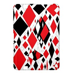 Distorted Diamonds In Black & Red Kindle Fire Hd 8 9  Hardshell Case