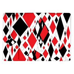 Distorted Diamonds In Black & Red Samsung Galaxy Tab 10 1  P7500 Flip Case