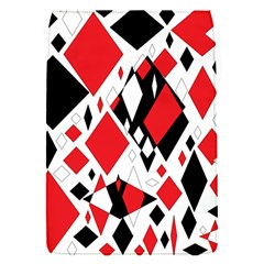Distorted Diamonds In Black & Red Removable Flap Cover (small)