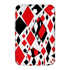 Distorted Diamonds In Black & Red Samsung Galaxy Note 8.0 N5100 Hardshell Case