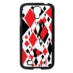 Distorted Diamonds In Black & Red Samsung Galaxy S4 I9500/ I9505 Case (black)