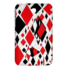 Distorted Diamonds In Black & Red Samsung Galaxy Tab 3 (7 ) P3200 Hardshell Case