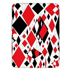 Distorted Diamonds In Black & Red Samsung Galaxy Tab 3 (10.1 ) P5200 Hardshell Case
