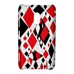 Distorted Diamonds In Black & Red Nokia Lumia 620 Hardshell Case