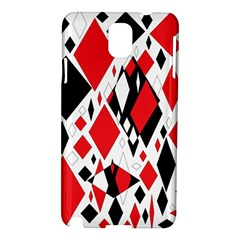 Distorted Diamonds In Black & Red Samsung Galaxy Note 3 N9005 Hardshell Case