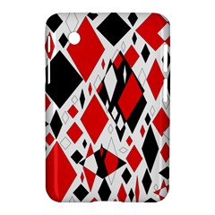 Distorted Diamonds In Black & Red Samsung Galaxy Tab 2 (7 ) P3100 Hardshell Case