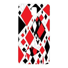 Distorted Diamonds In Black & Red Samsung Galaxy Note 3 N9005 Hardshell Back Case