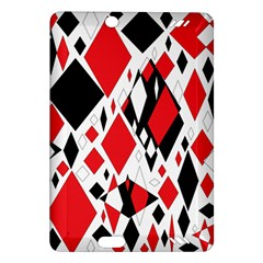 Distorted Diamonds In Black & Red Kindle Fire HD 7  (2nd Gen) Hardshell Case