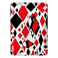 Distorted Diamonds In Black & Red Kindle Fire Hdx 7  Hardshell Case