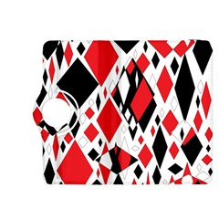 Distorted Diamonds In Black & Red Kindle Fire HDX 8.9  Flip 360 Case