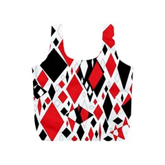 Distorted Diamonds In Black & Red Reusable Bag (s)