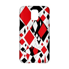 Distorted Diamonds In Black & Red Samsung Galaxy S5 Hardshell Case
