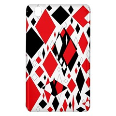 Distorted Diamonds In Black & Red Samsung Galaxy Tab Pro 8 4 Hardshell Case