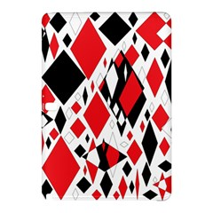 Distorted Diamonds In Black & Red Samsung Galaxy Tab Pro 12.2 Hardshell Case
