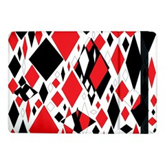 Distorted Diamonds In Black & Red Samsung Galaxy Tab Pro 10 1  Flip Case
