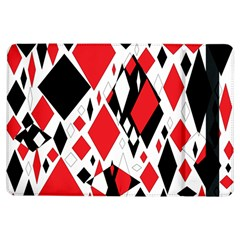 Distorted Diamonds In Black & Red Apple iPad Air Flip Case