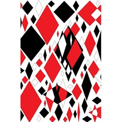 Distorted Diamonds In Black & Red Notebook