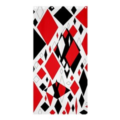 Distorted Diamonds In Black & Red Shower Curtain 36  X 72  (stall)