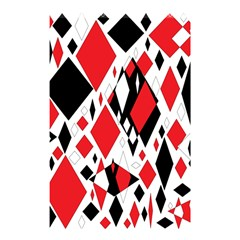 Distorted Diamonds in Black & Red Shower Curtain 48  x 72  (Small)