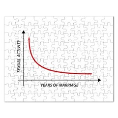 Sexual Activity Versus Years Of Marriage Funny Graphic Design Jigsaw Puzzle (Rectangle)