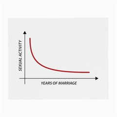 Sexual Activity Versus Years Of Marriage Funny Graphic Design Glasses Cloth (Small, Two Sided)