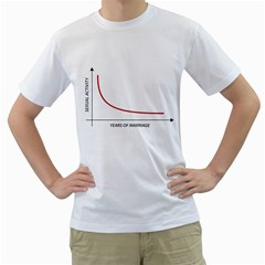 Sexual Activity Versus Years Of Marriage Funny Graphic Design Men s T-Shirt (White)