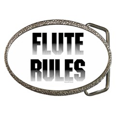 Flute Rules Belt Buckle (oval)