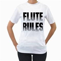 Flute Rules Women s T-Shirt (White)