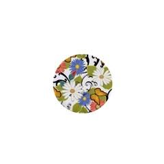 Floral Fantasy 1  Mini Button