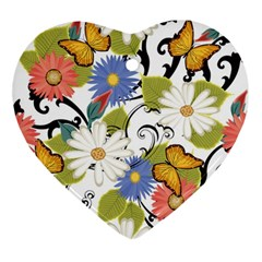Floral Fantasy Heart Ornament