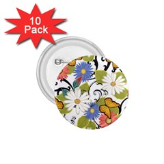 Floral Fantasy 1.75  Button (10 pack)