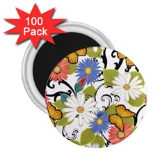Floral Fantasy 2.25  Button Magnet (100 pack)