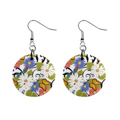 Floral Fantasy Mini Button Earrings
