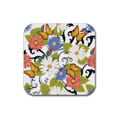 Floral Fantasy Drink Coasters 4 Pack (square)