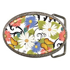 Floral Fantasy Belt Buckle (oval)
