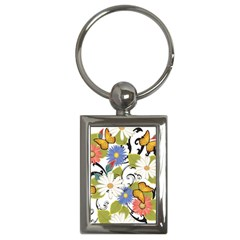 Floral Fantasy Key Chain (rectangle)