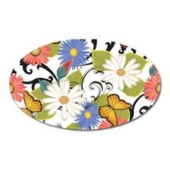 Floral Fantasy Magnet (oval)