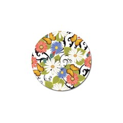 Floral Fantasy Golf Ball Marker 4 Pack