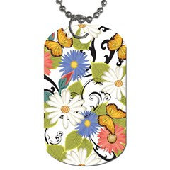 Floral Fantasy Dog Tag (two Sided)