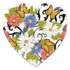 Floral Fantasy Jigsaw Puzzle (Heart)