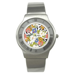 Floral Fantasy Stainless Steel Watch (slim)