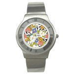 Floral Fantasy Stainless Steel Watch (Slim) Front