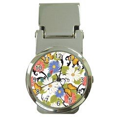 Floral Fantasy Money Clip With Watch